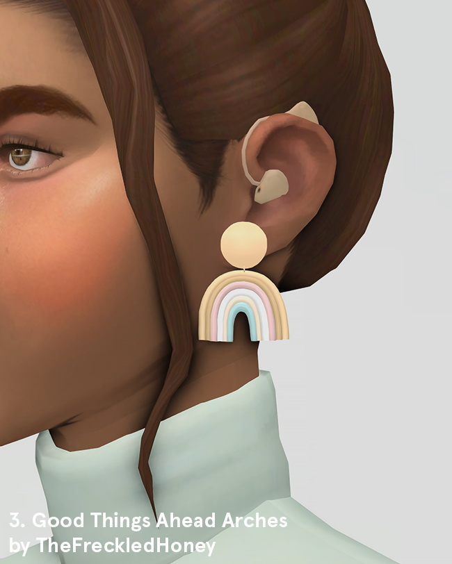 Earrings, Bronte Dress & Rosebud Top at Ridgeport image 1972 Sims 4 Updates