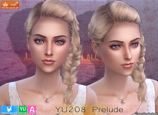Sims 4 YU208 Prelude hair (P) at Newsea Sims 4