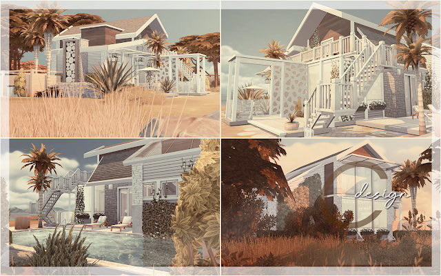 Sims 4 Modern Beach House at Cross Design