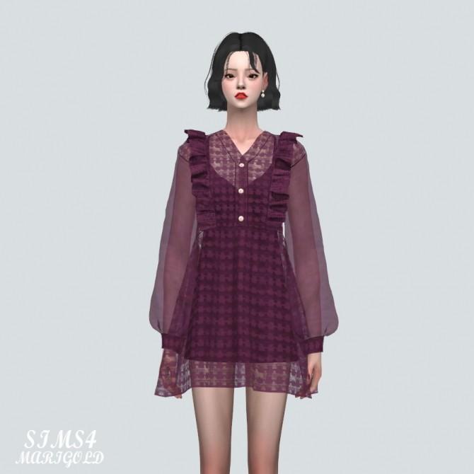 Sims 4 Angel Frill Mini Dress at Marigold