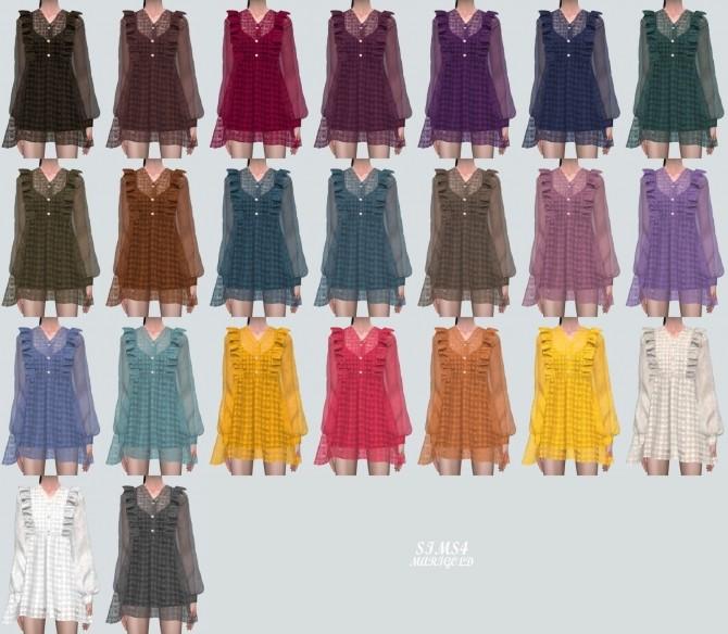 Angel Frill Mini Dress at Marigold image 2023 670x584 Sims 4 Updates