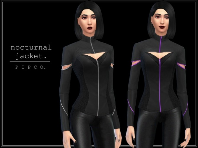 Sims 4 Nocturnal jacket by Pipco at TSR