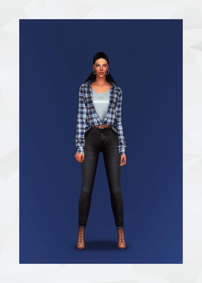 Sims 4 Casual Shirt AF at Gorilla