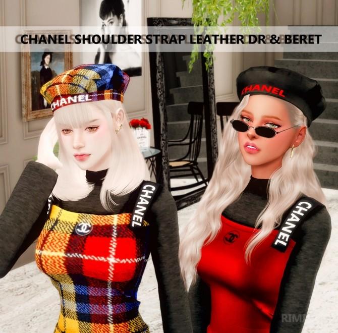 Sims 4 Dress, headband & beret at RIMINGs