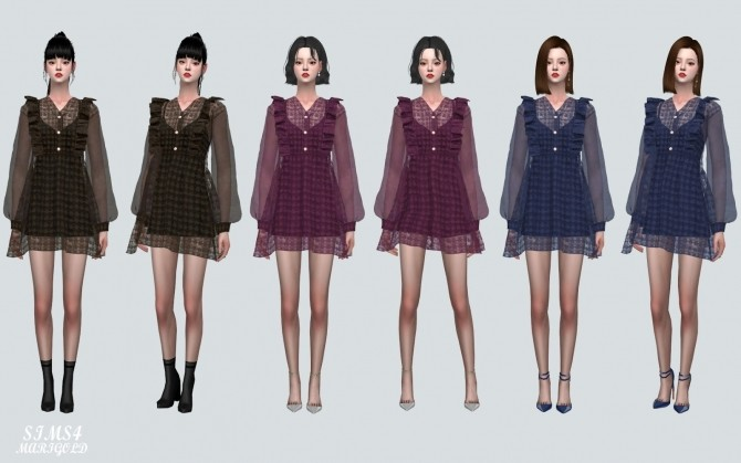 Angel Frill Mini Dress at Marigold image 2033 670x419 Sims 4 Updates
