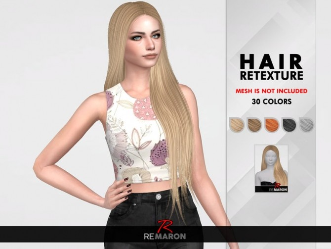 Sims 4 Maleficent Hair Retexture by remaron at TSR