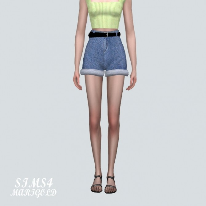 High Waist Belt Hot Pants V3 at Marigold image 2043 670x670 Sims 4 Updates