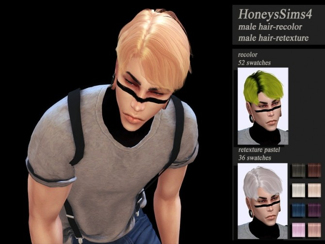 Male hair recolor retexture MUSAE Priest by HoneysSims4 at TSR image 2050 670x503 Sims 4 Updates