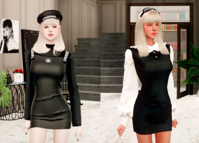 Dress, headband & beret at RIMINGs image 2062 670x482 Sims 4 Updates