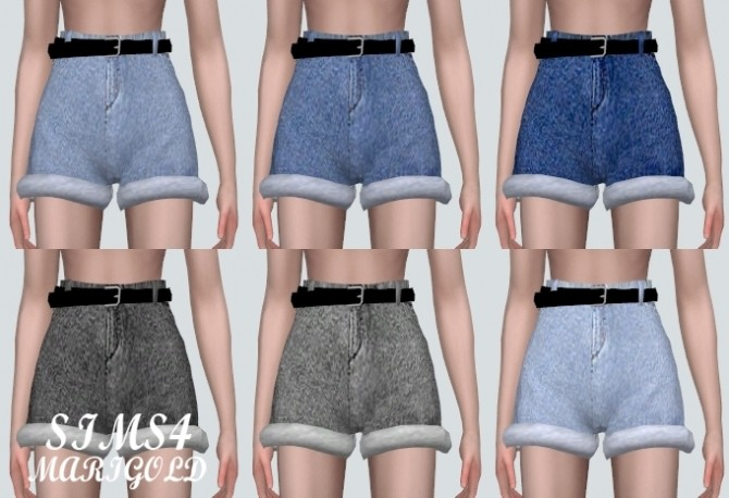 High Waist Belt Hot Pants V3 at Marigold image 2073 670x458 Sims 4 Updates