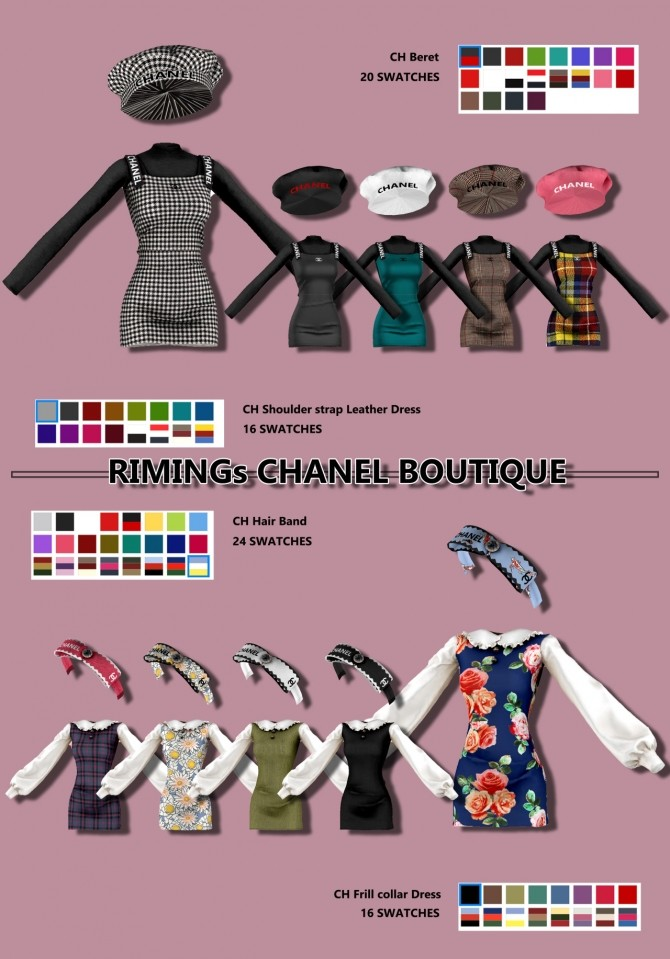 Dress, headband & beret at RIMINGs image 2082 670x959 Sims 4 Updates