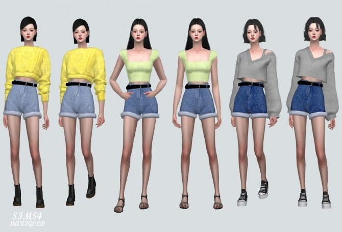 High Waist Belt Hot Pants V3 at Marigold image 2083 670x456 Sims 4 Updates