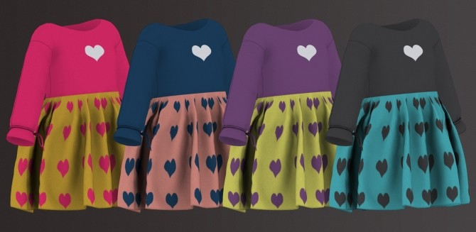 HEART DRESS by Thiago Mitchell at REDHEADSIMS image 2089 670x327 Sims 4 Updates