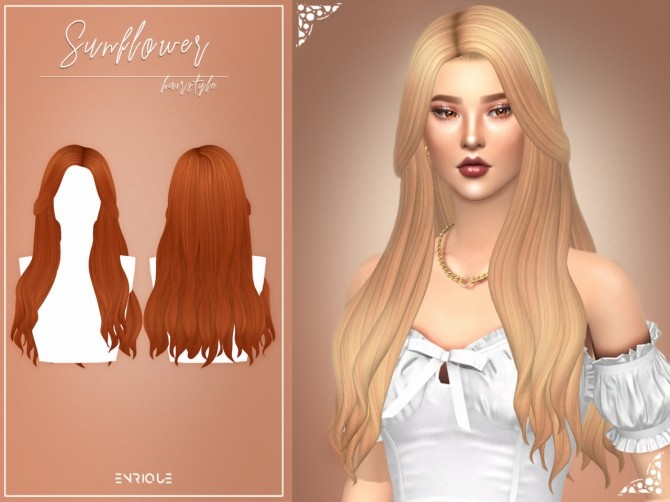 Sims 4 Sunflower Hairstyle at Enriques4