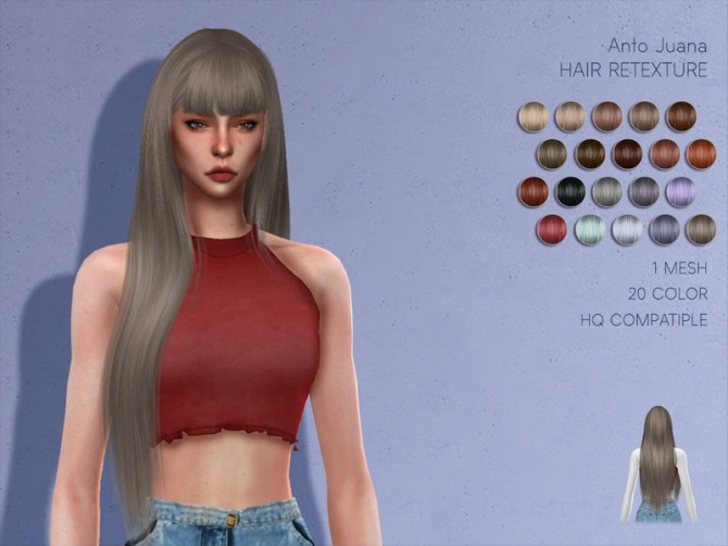 Sims 4 LMCS Anto Juana Hair Retexture by Lisaminicatsims at TSR
