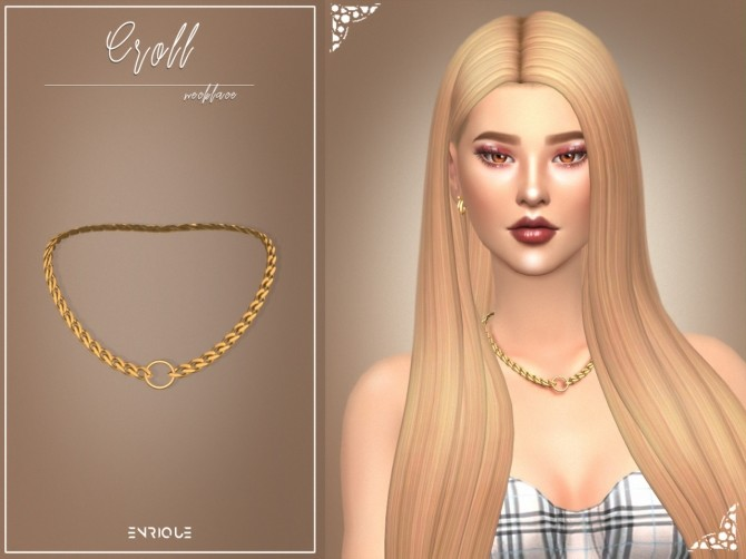 Sims 4 Croll Necklace at Enriques4