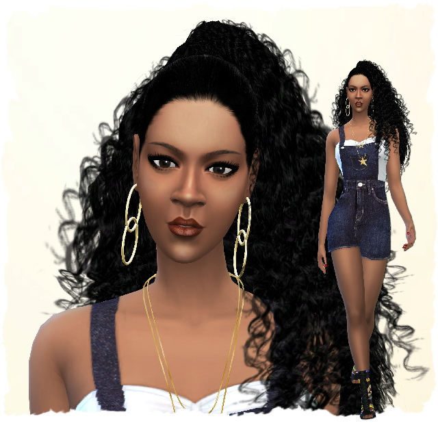 Sims 4 Luna Samuel by Chalipo at All 4 Sims