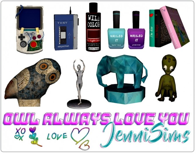 Sims 4 CLUTTER DECORATIVE 9 ITEMS at Jenni Sims