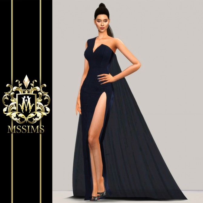 MIDNIGHT GOWN (P) at MSSIMS image 211 670x671 Sims 4 Updates