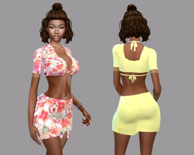 Sims 4 Casey Floral Set at Teenageeaglerunner