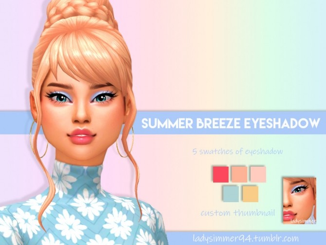 Sims 4 Summer Breeze Eyeshadow by LadySimmer94 at TSR