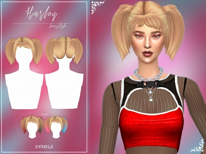 Sims 4 Harley Hairstyle at Enriques4