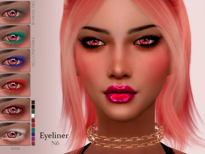 Sims 4 Eyeliner N6 by Suzue at TSR