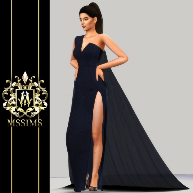 MIDNIGHT GOWN (P) at MSSIMS image 213 670x671 Sims 4 Updates