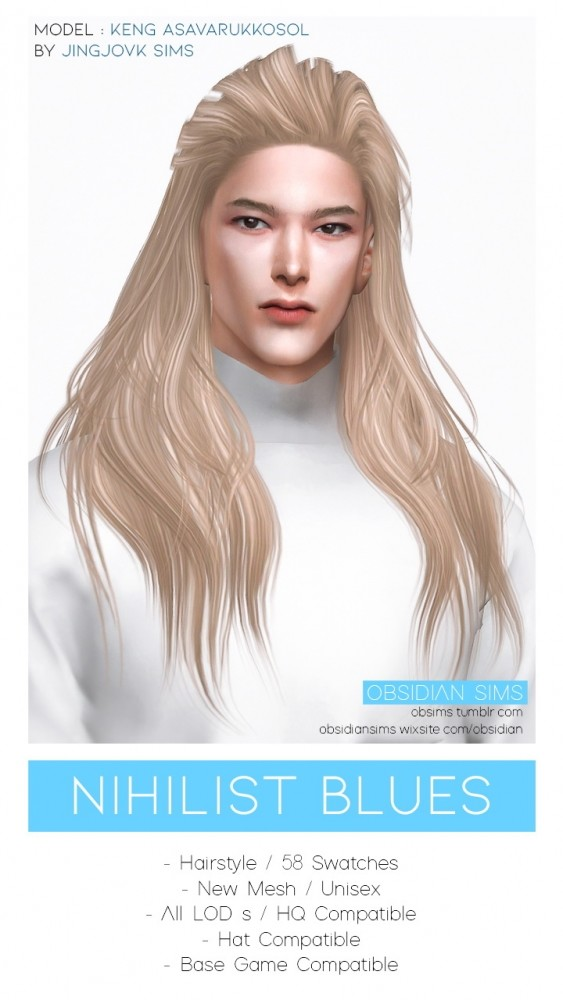 NIHILIST BLUES HAIR at Obsidian Sims image 21412 563x1000 Sims 4 Updates