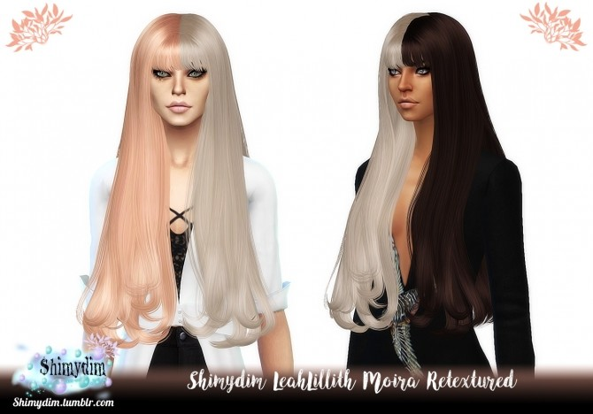 Sims 4 LeahLillith Moira Hair Retexture Ombre + TwoTone Naturals + Unnaturals at Shimydim Sims
