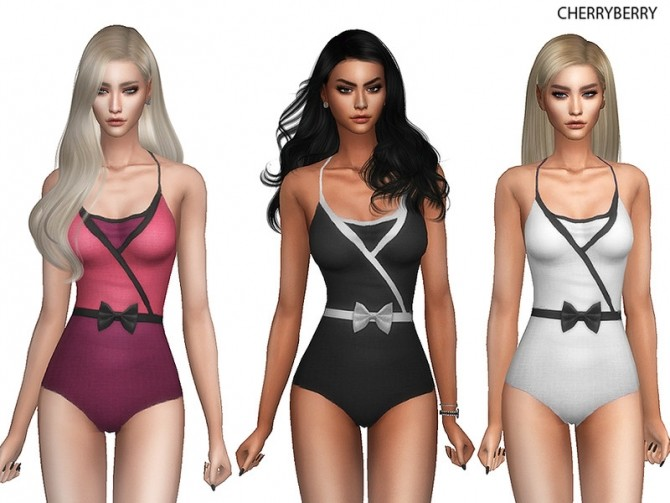 Obsession Swimsuit by CherryBerrySim at TSR image 2160 670x503 Sims 4 Updates