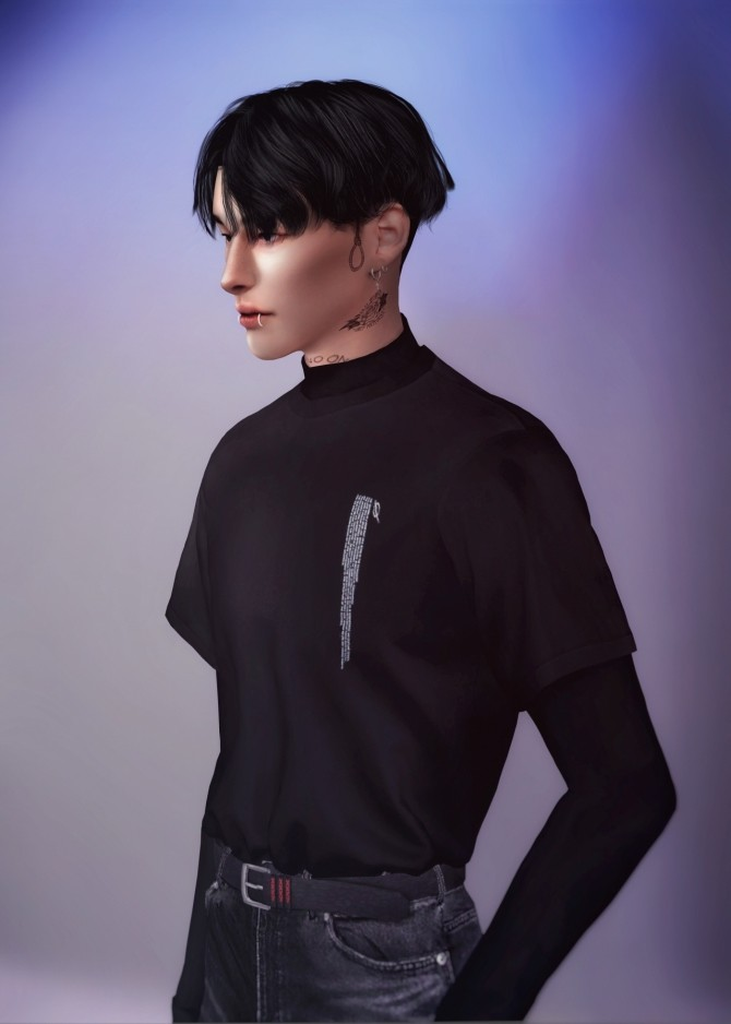 Layered T shirts With Turtleneck at Rona Sims image 2169 670x938 Sims 4 Updates