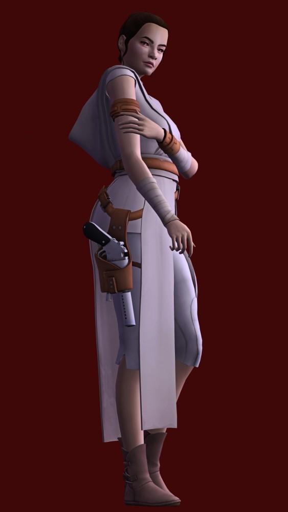Sims 4 Fortnite Rey outfit & hair at Astya96