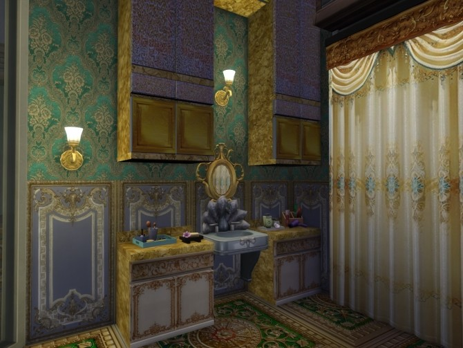 Sims 4 Victorian Walls With Glowing Motives at Anna Quinn Stories