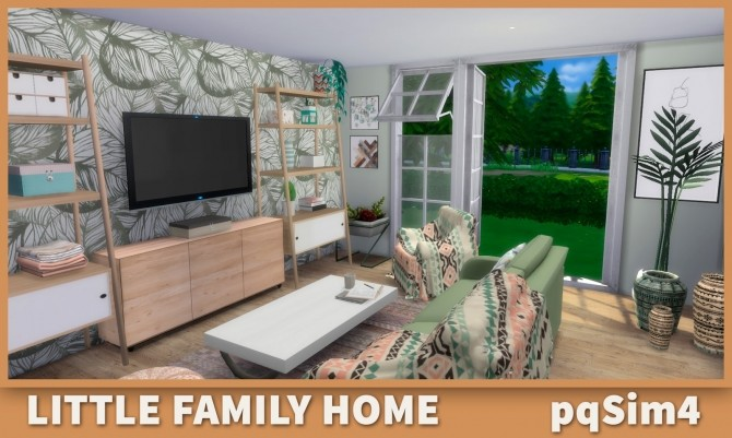 Sims 4 Little Family Home at pqSims4