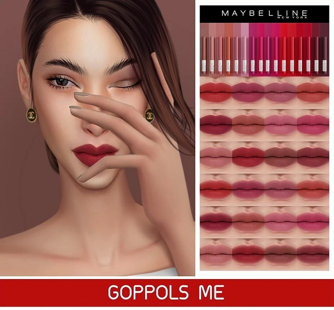 Super Stay Ink Crayon at GOPPOLS Me image 22111 670x622 Sims 4 Updates