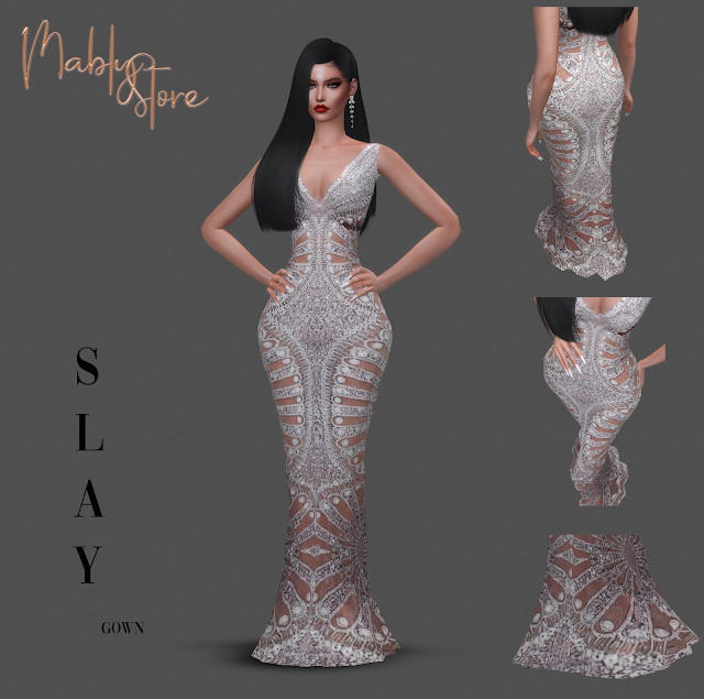 SLAY GOWN at Mably Store image 22211 Sims 4 Updates