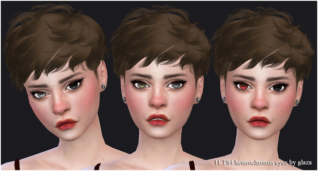 11 heterochromia eyes set 2 at All by Glaza image 2222 Sims 4 Updates