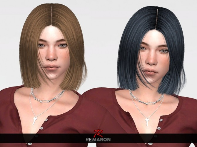Sims 4 Ida Hair Retexture by remaron at TSR