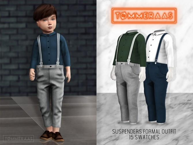Suspenders Formal Outfit #13 at TØMMERAAS image 2238 670x503 Sims 4 Updates