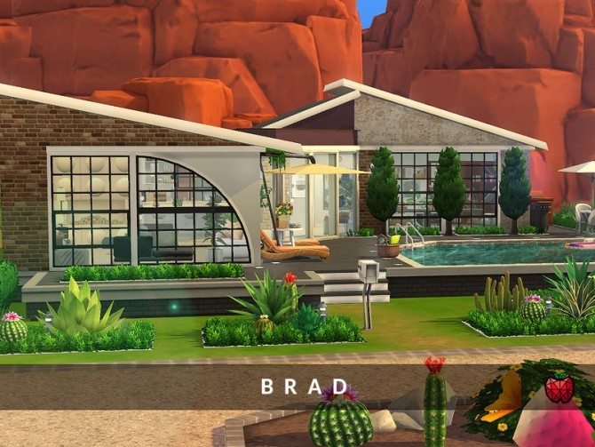 Sims 4 Brad contemporary house by melapples at TSR
