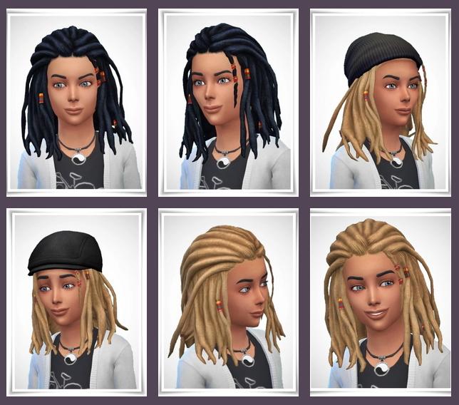 Sims 4 Daran Kids Dreads at Birksches Sims Blog