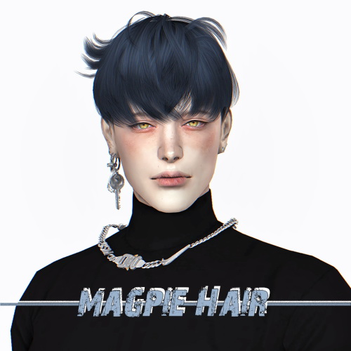 Sims 4 Magpie Hair at Lemon Sims 4