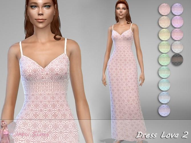 Sims 4 Dress Lova 2 by Jaru Sims at TSR