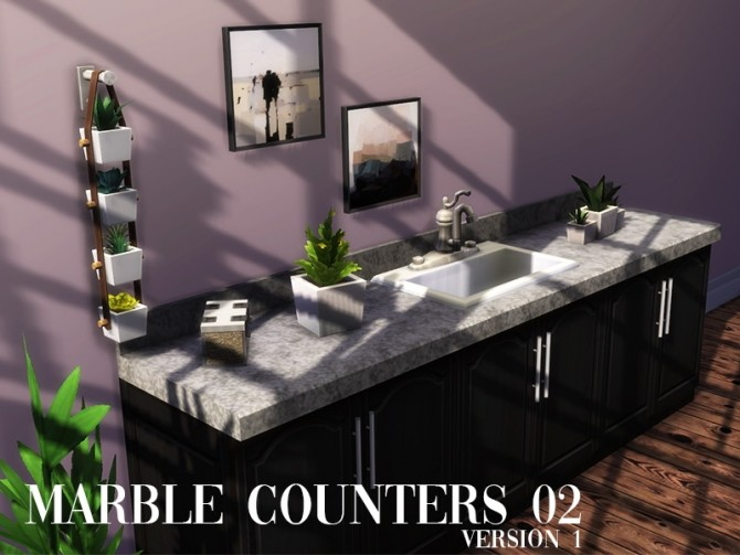 Marble counters 02 at Celinaccsims image 235 670x503 Sims 4 Updates