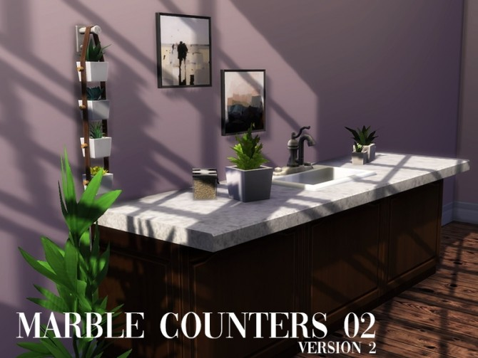 Marble counters 02 at Celinaccsims image 236 670x503 Sims 4 Updates