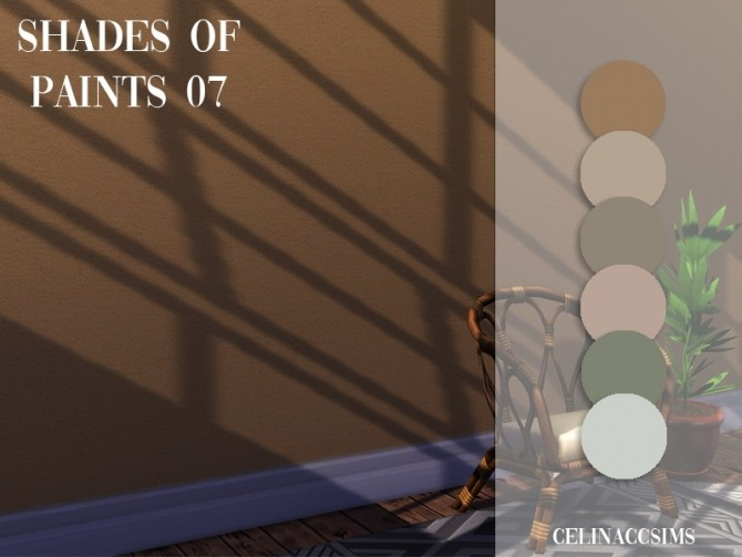 Sims 4 Shades of paints 07 at Celinaccsims