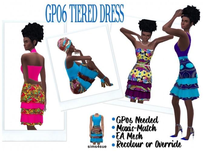 Sims 4 GP06 TIERED DRESS at Sims4Sue
