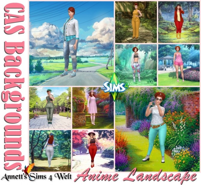 Sims 4 Anime Landscape CAS Backgrounds at Annett's Sims 4 Welt