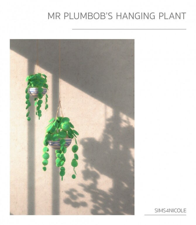 Sims 4 Mr Plumbobs hanging plant at Sims4Nicole